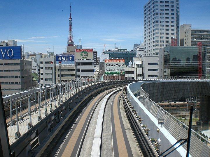 sul treno per Odaiba
