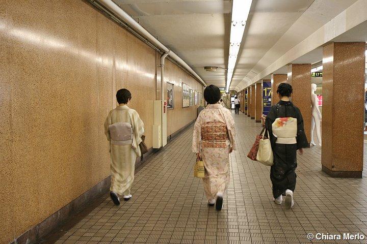 donne in kimono