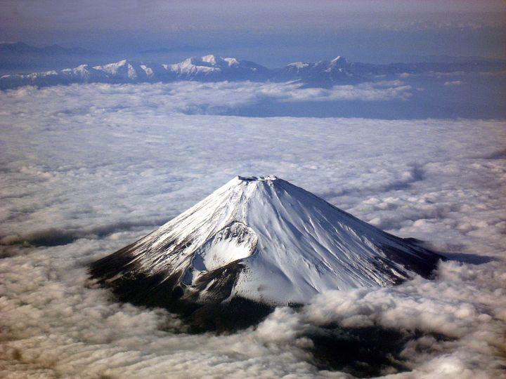 Il Fuji dall'alto